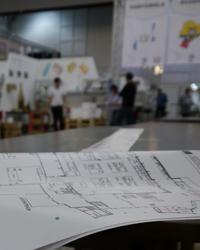 Abbildung: Planung Aufbau des Messestandes